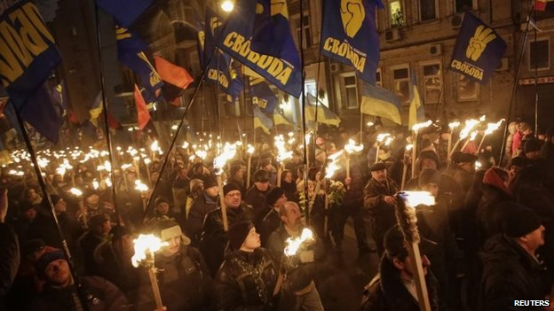 Torchlight march by Svoboda